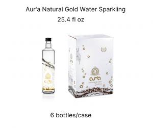 aur'a natural gold water sparkling 25,4
