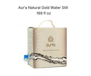 aur'a natural gold water still bag in box